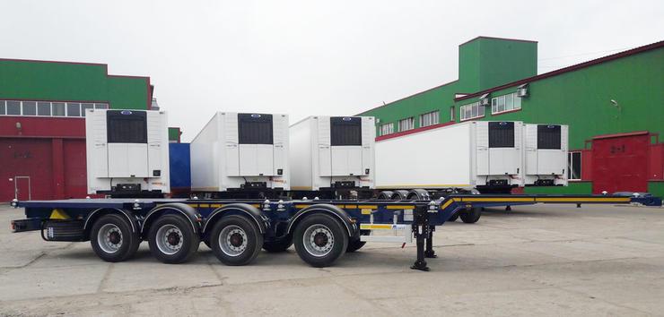 Полуприцеп - контейнеровоз тип PF-41N (стандарт, 4-х осный, универсал)